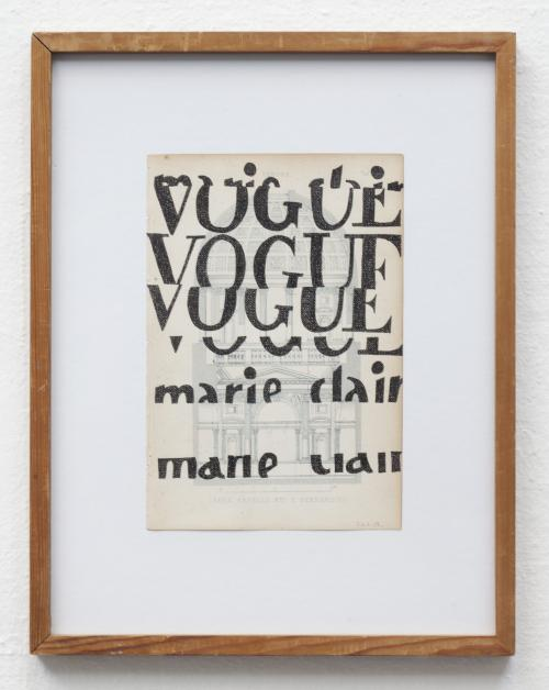Tusch på litografisk tryk, Olevano Romano 2013